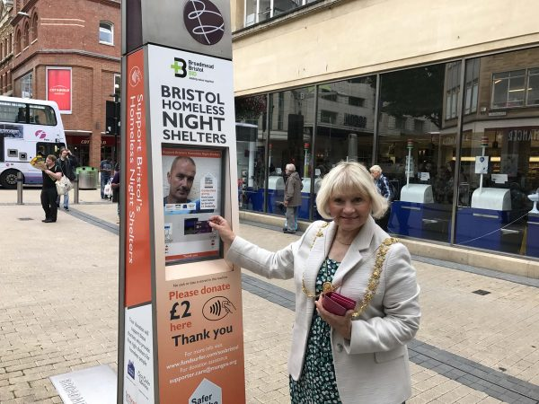 Help the homeless by donating £2 at the contactless donation points