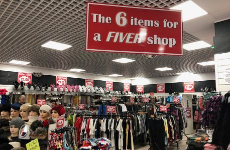 The 6 items for a fiver shop