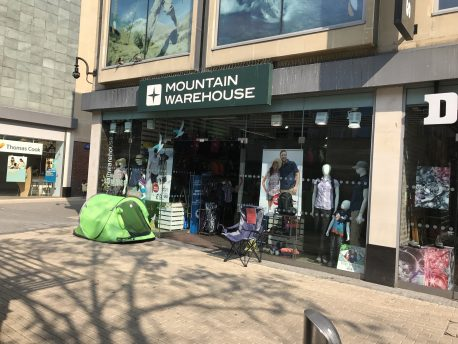 Clearance sale at Mountain warehouse