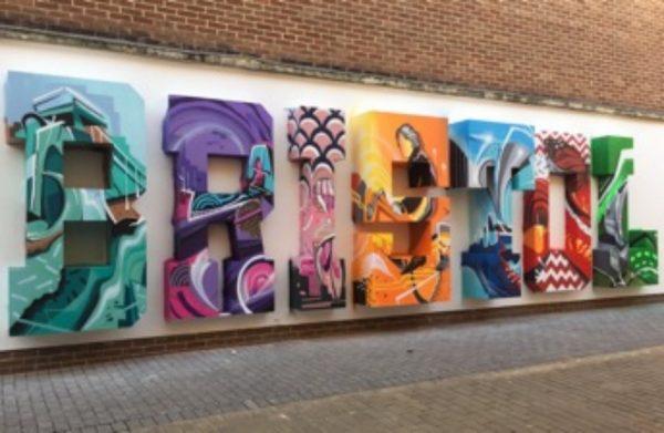 Bristol selfie spot in Quakers Friars