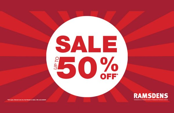 Ramsdens summer sale