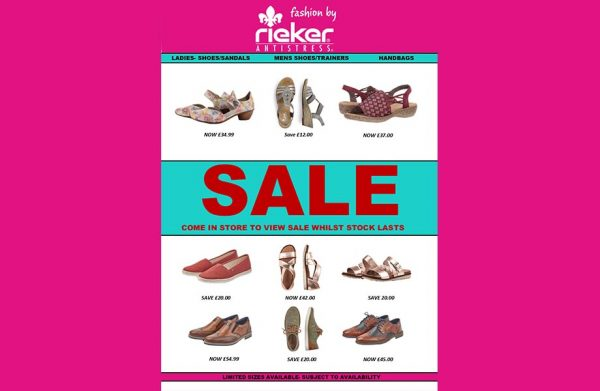 rieker spring summer sale