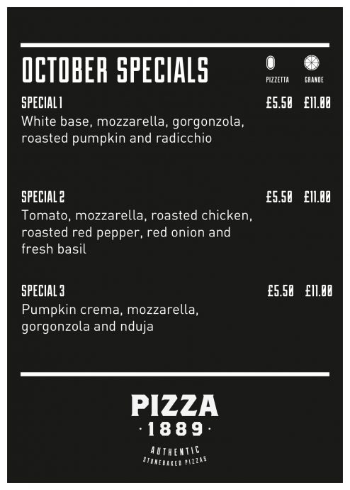 October specials at Pizza1889